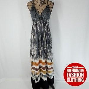 Steve Madden | Tie Dye Long Maxi Halter Dress (M)